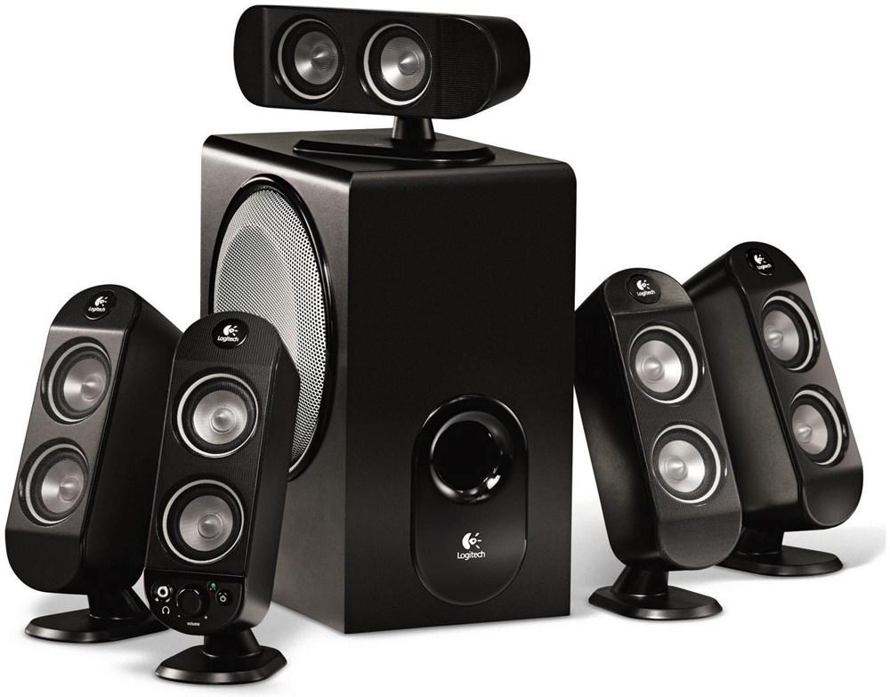 Logitech X-530 5.1 Soundsystem - Speakers (PC) - computeruniverse