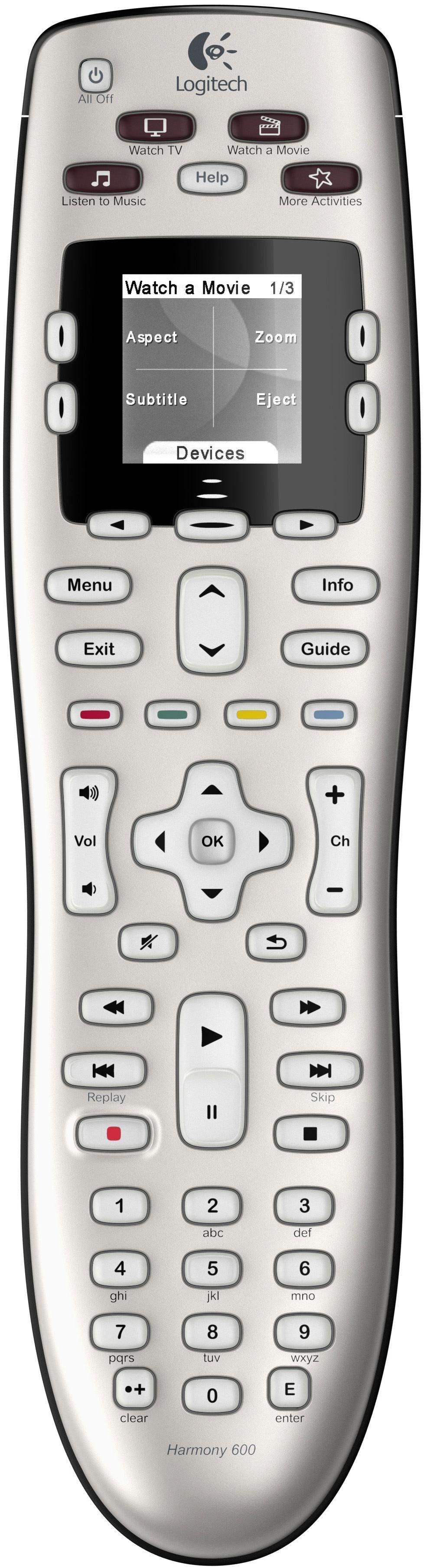 Silber universal remote