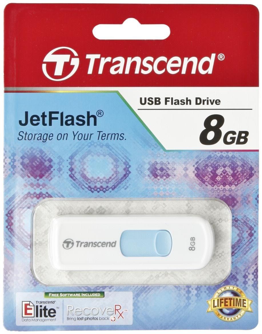 Transcend memory drive flash USB2 8GB/530 blue TS8GJF530.