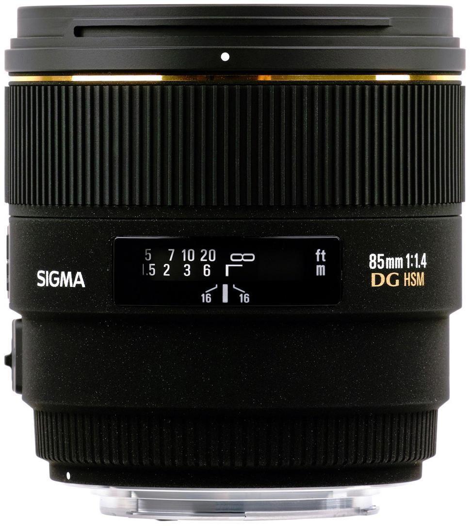 Sigma 85 F1.4 EX DG HSM CA, für Canon EF Anschluss, (Vollformat) 320954