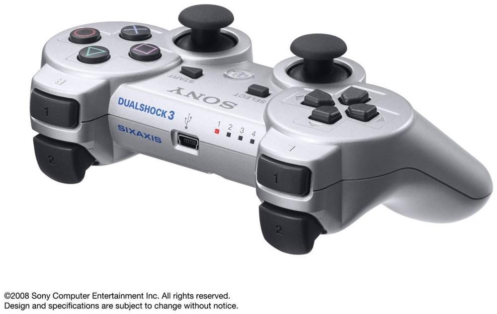 Игровые манипуляторы Dualshock 3 Silver High Copy - YabaDaba.