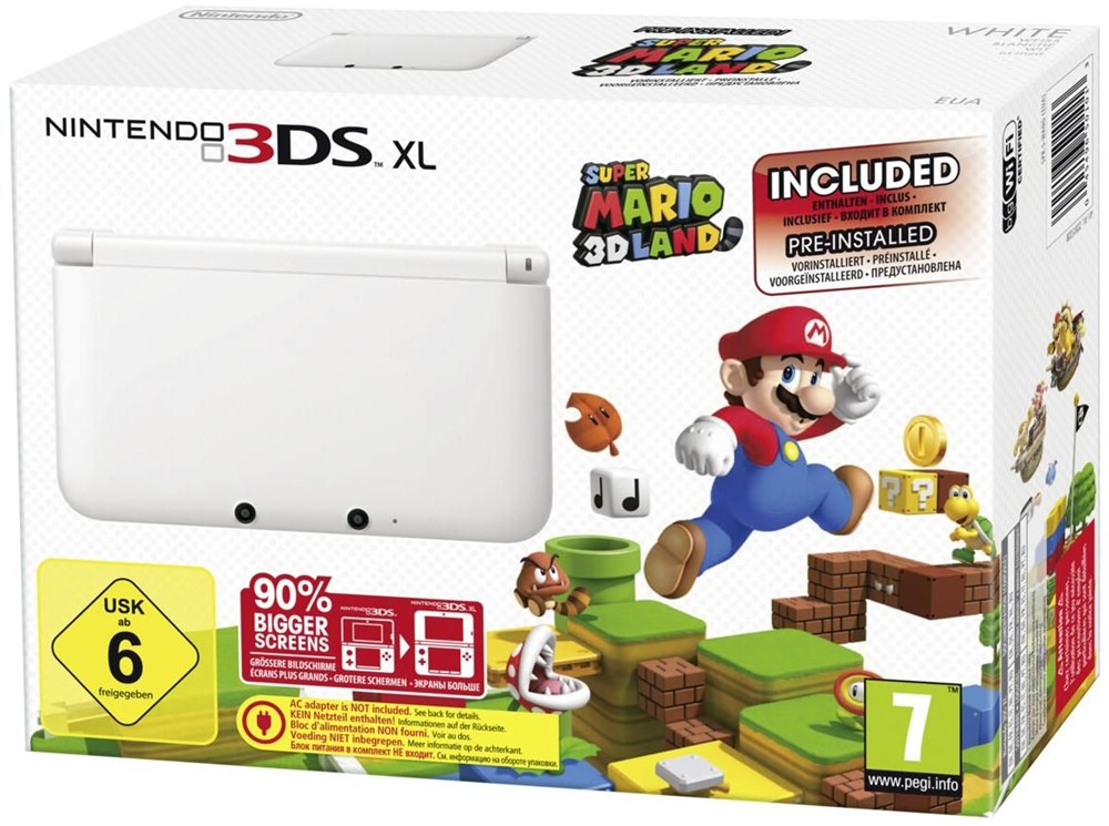 Nintendo 3DS XL wei&#223; inkl. Super Mario 3D Land 2201532