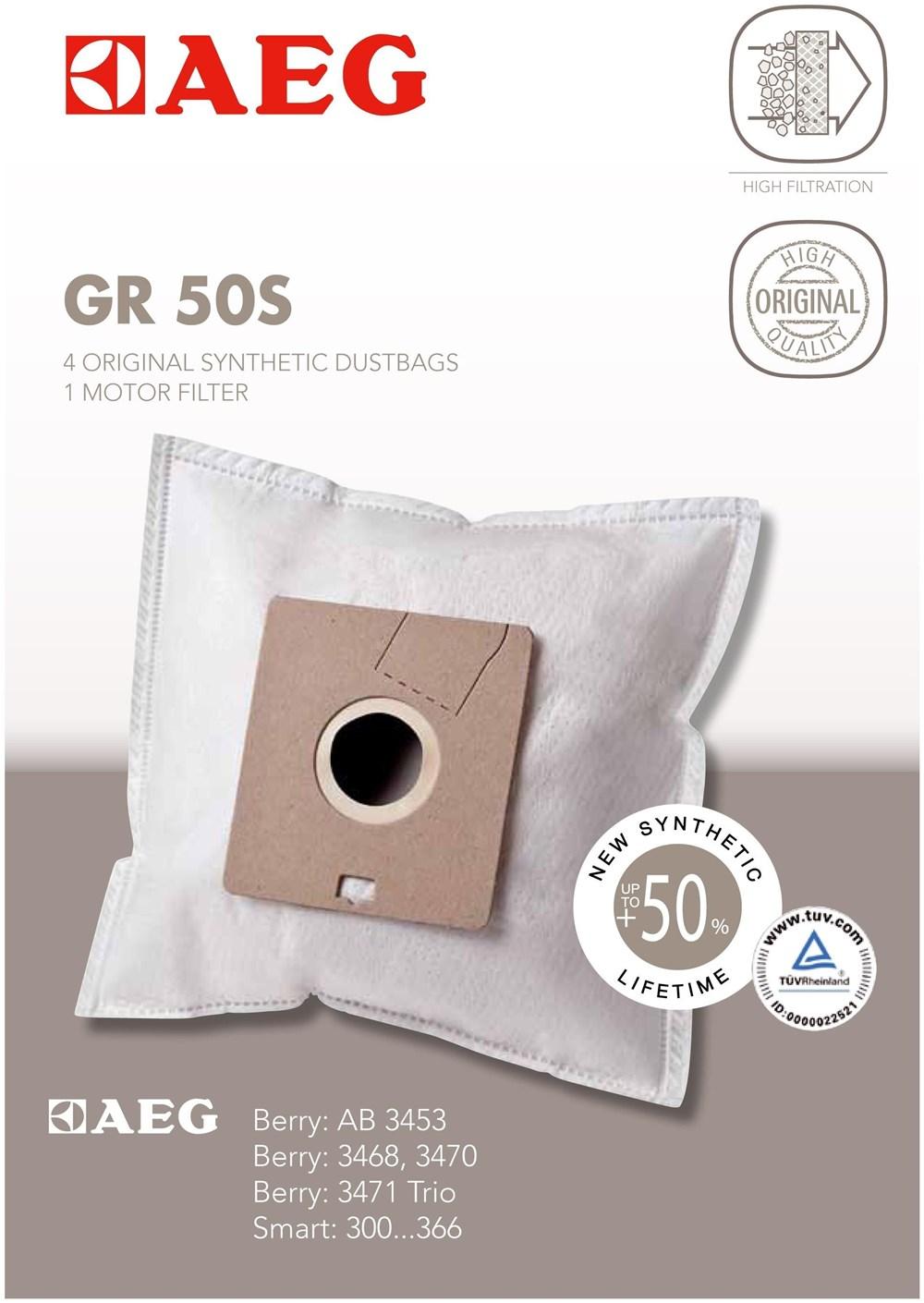AEG Electrolux AEG Grösse 50S Staubsaugerbeutel 900166979