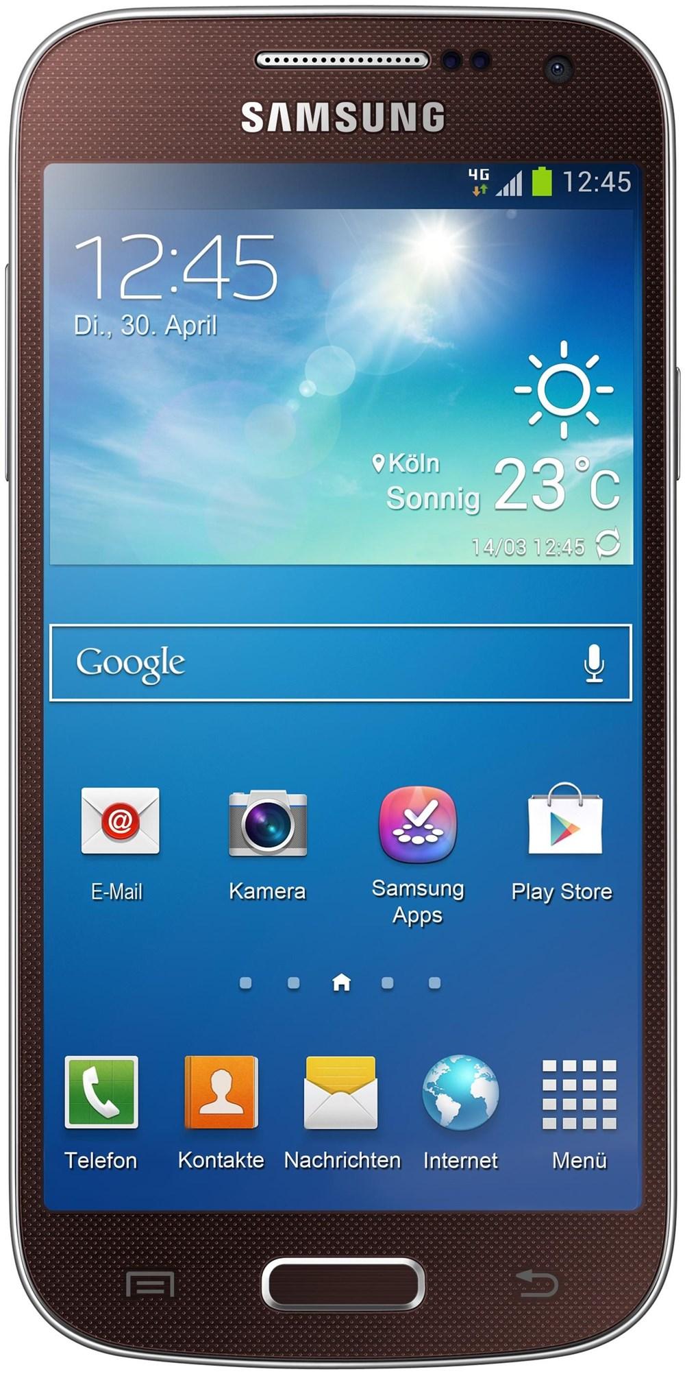 Samsung Galaxy S4 Mini i9195, 8 GB, Smartphone ohne Vertrag/SIMlock, braun GT-I9195ZNADBT