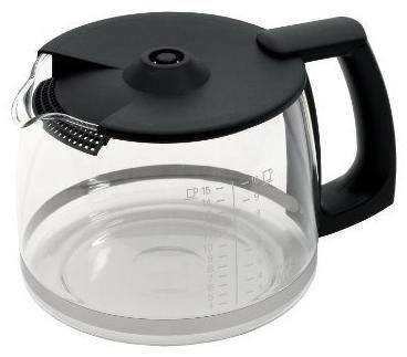 Krups F034 Glaskanne schwarz (Zubehör Kaffeemaschine) F03442