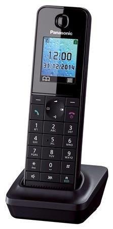Panasonic Mobilteil KX-TGH210 inkl. Ladeschale schwarz (Telefon) KX-TGHA20EXB