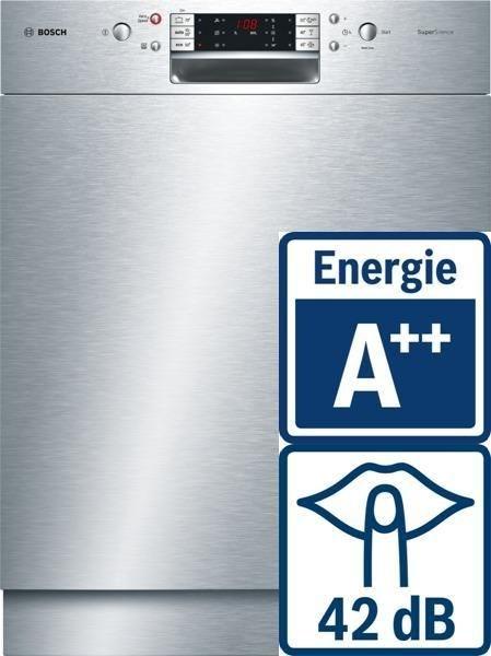 Bosch SMU68M85EU EEK A++ edelstahl (Einbaugeschirrspüler)