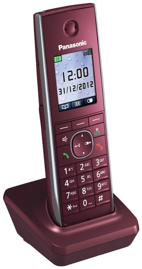 Panasonic KX-TGA855EXR Mobilteil weinrot (Telefon) KXTGA855EXR