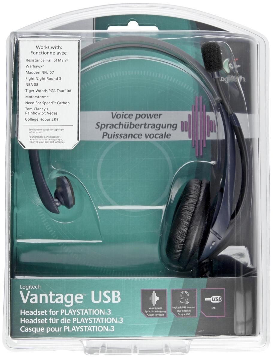 Logitech Vantage USB Headset für PS3 - Sony Playstation 3 ...
