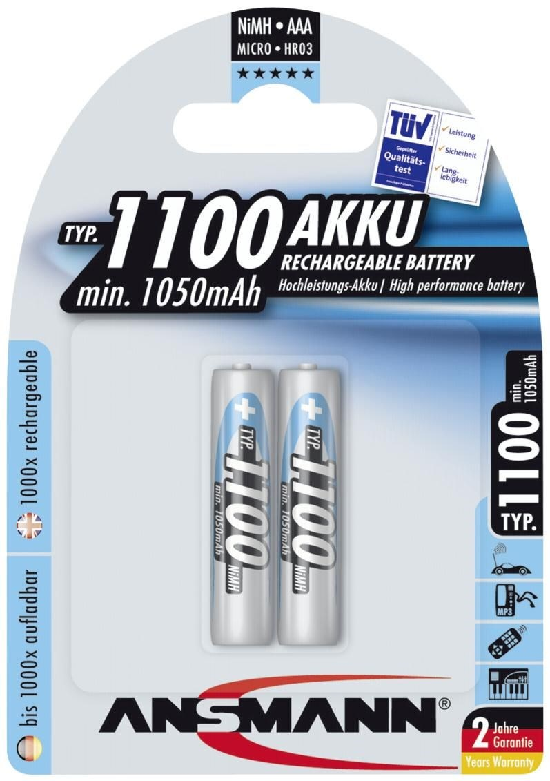 ansmann akku nimh micro aaa 1100mah batteries rechargeable computeruniverse. Black Bedroom Furniture Sets. Home Design Ideas