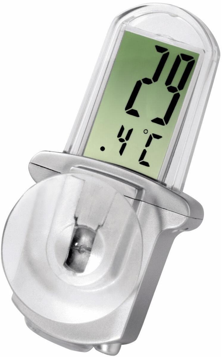 Hama LCD-Thermometer Window silber - Preisvergleich
