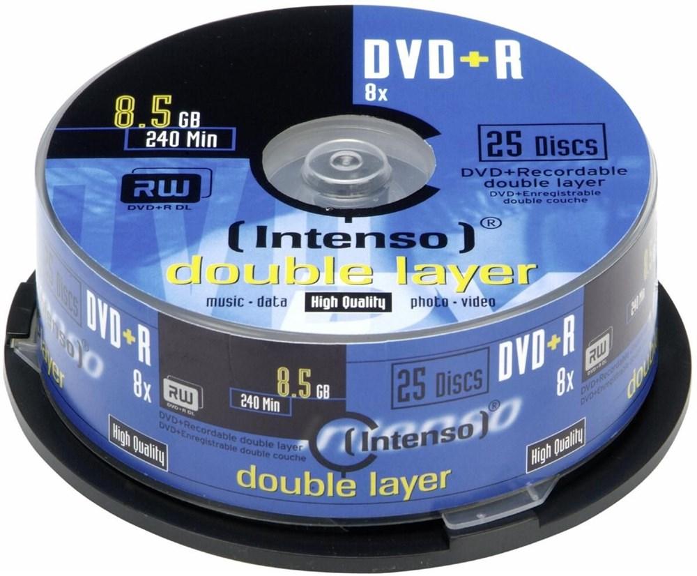 intenso dvd r dl 8 5gb 8x 25er spindel dvd rohlinge. Black Bedroom Furniture Sets. Home Design Ideas