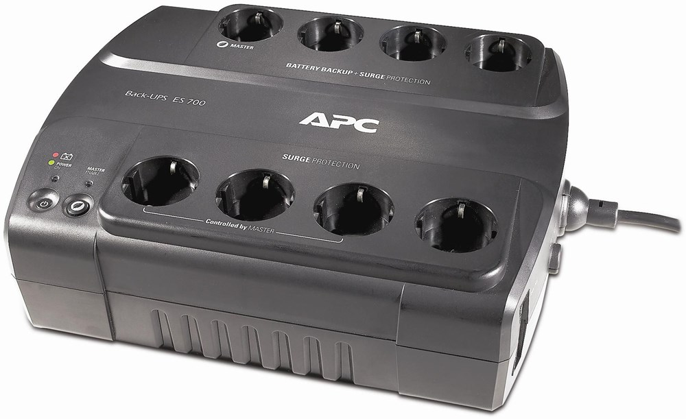 APC Power-Saving Back-UPS ES BE700G-GR 700VA 230V, 8 Ausgänge CEE 7/7