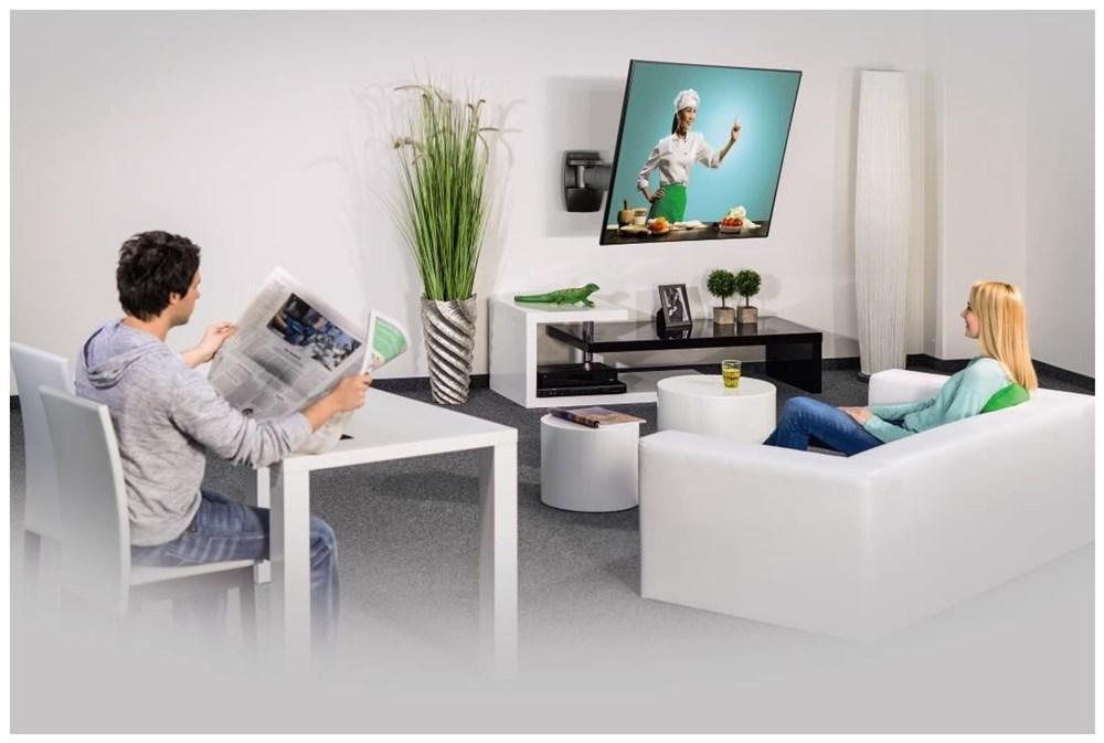 hama tv wandhalterung fullmotion 3 sterne l 107 cm 42 schwarz tv wall ceiling mounts computeruniverse - Fullmotiontv Wandhalterung Bewertungen