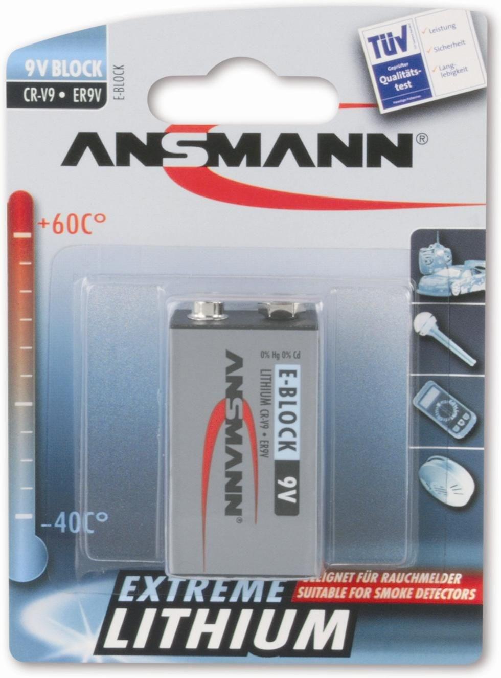 ansmann extreme lithium 9v block akkus batterien. Black Bedroom Furniture Sets. Home Design Ideas