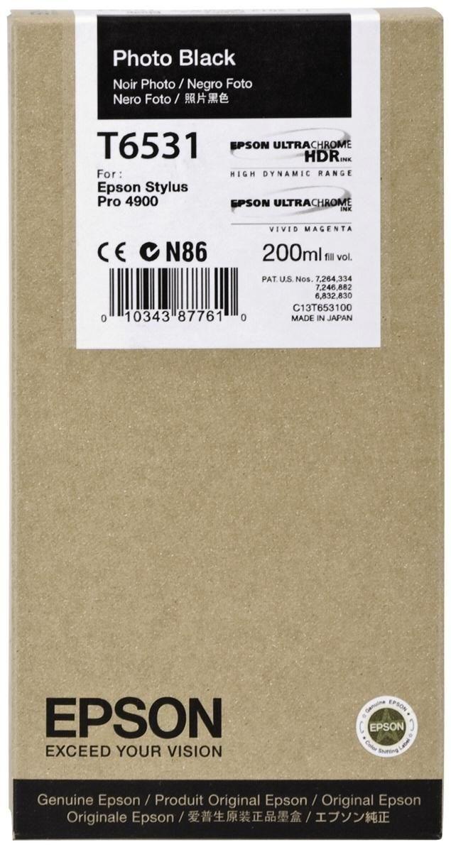 Epson T6531 Tinte Foto Schwarz