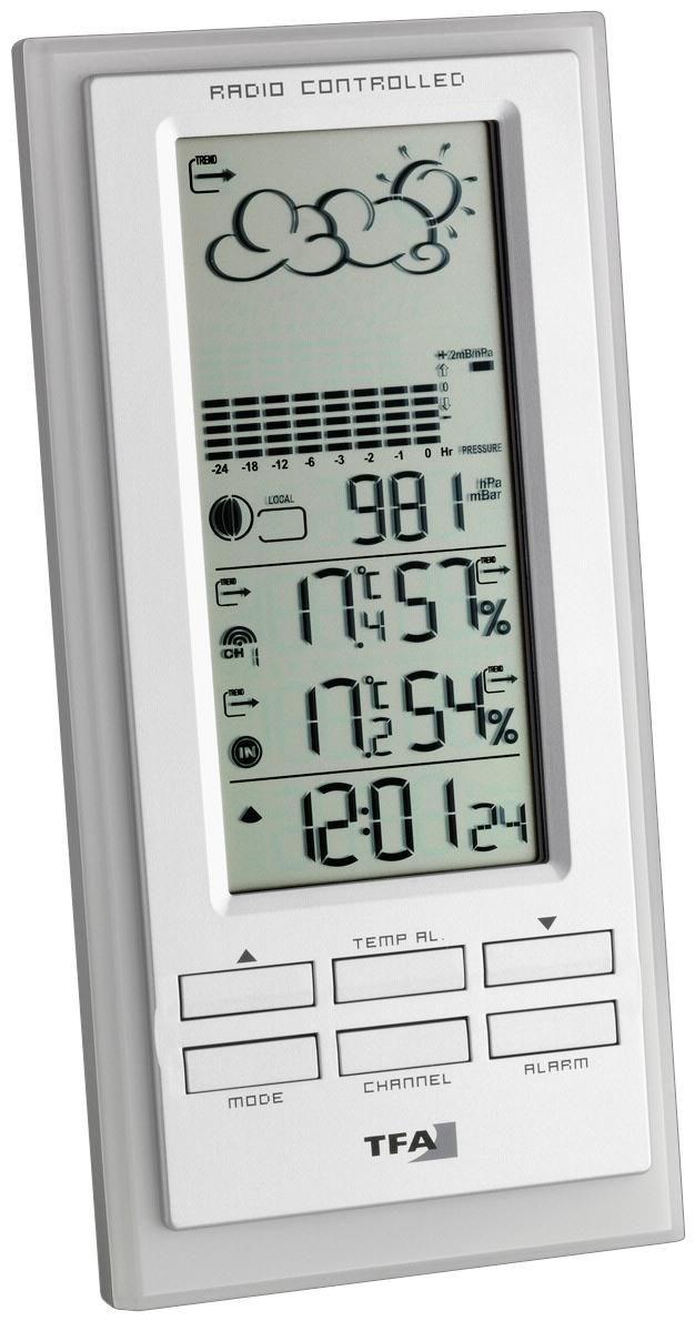 TFA Faktum Elektronische Wetterstation weiss - Preisvergleich