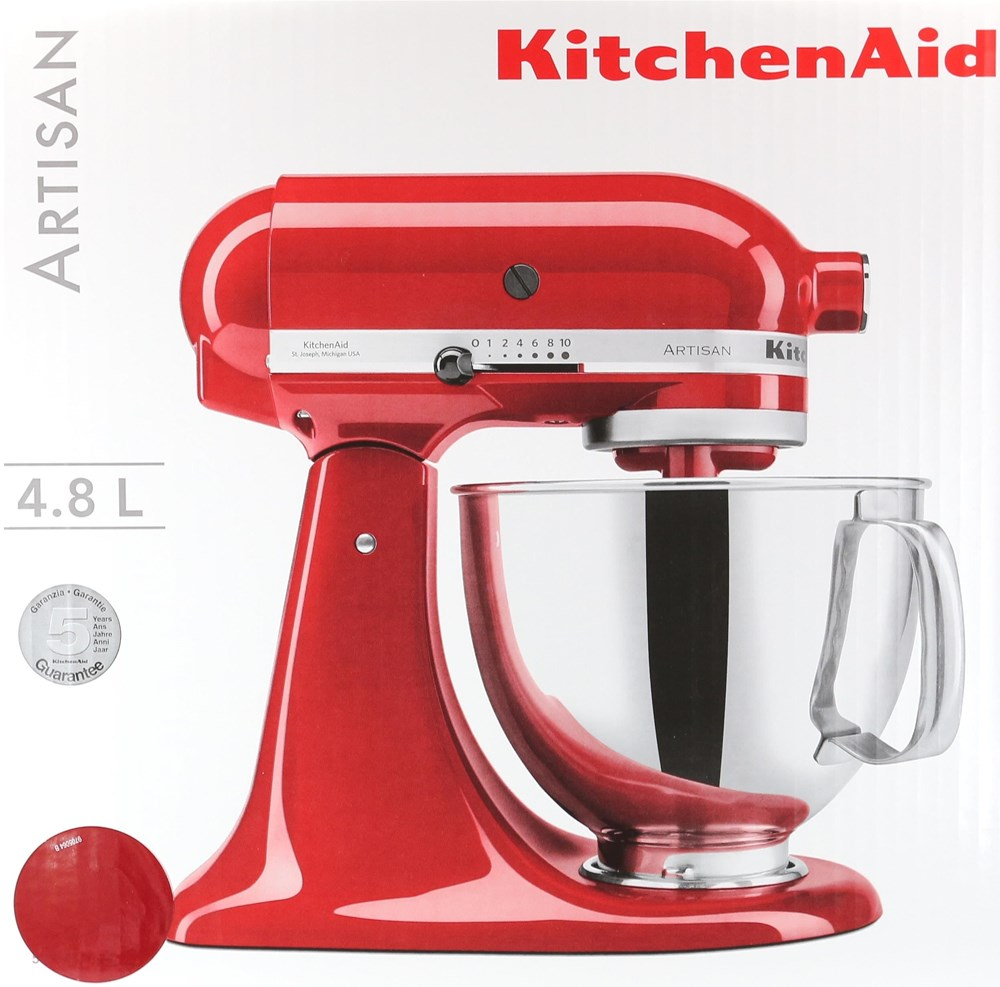 kitchenaid artisan 5ksm150pseer k chenmaschine empire rot. Black Bedroom Furniture Sets. Home Design Ideas