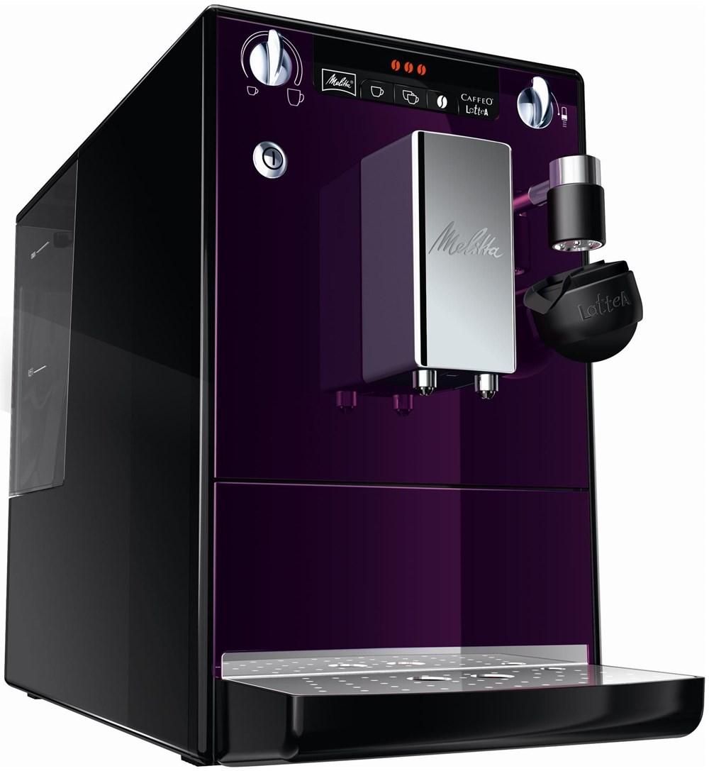 melitta caffeo lattea kaffeevollautomat lila schwarz. Black Bedroom Furniture Sets. Home Design Ideas