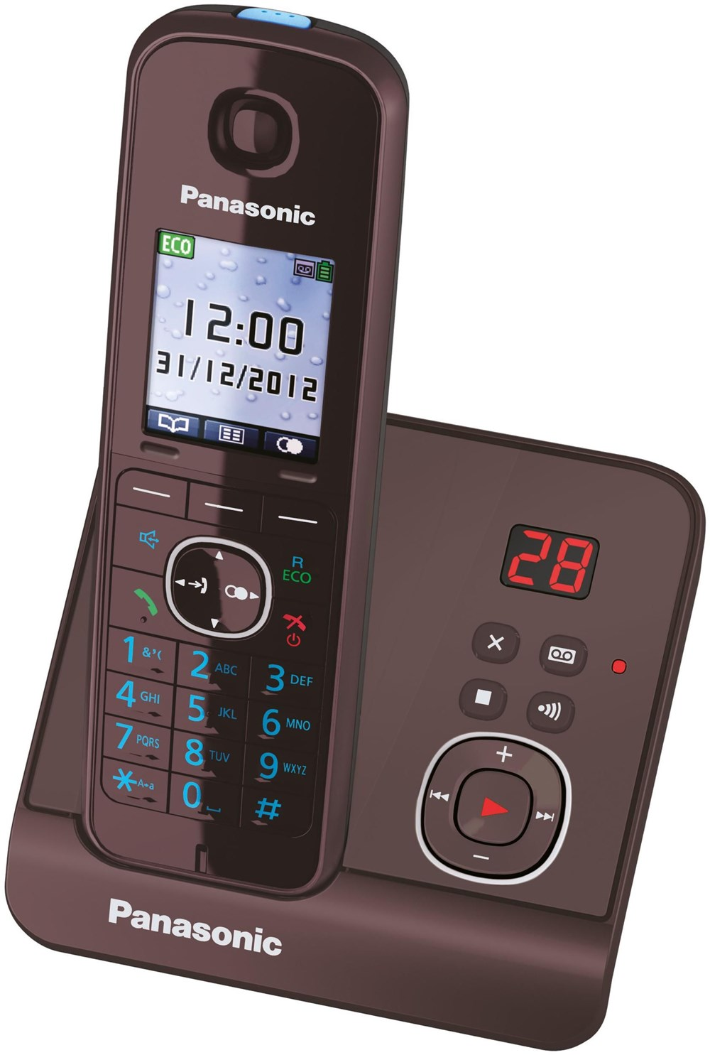 panasonic kx tg8161ga mocca braun telephones analog cordless computeruniverse. Black Bedroom Furniture Sets. Home Design Ideas