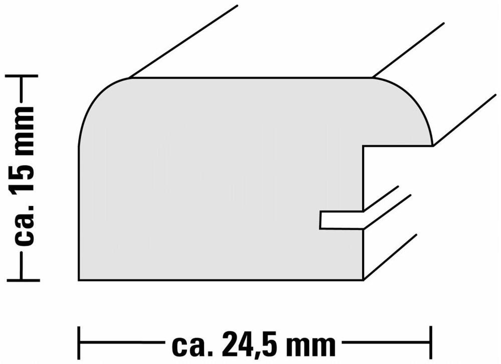 Hama Holzrahmen Riga 40x50cm silber