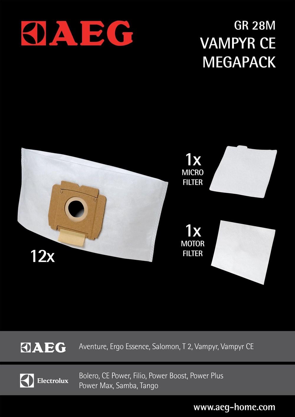 aeg gr sse 28m staubsaugerbeutel megapack f r vampyr ce 12 beutel ebay. Black Bedroom Furniture Sets. Home Design Ideas