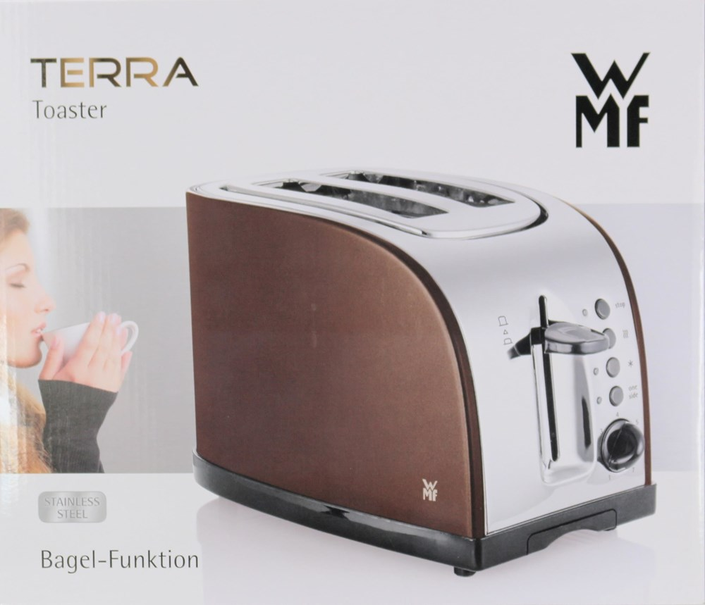 wmf terra toaster braun edelstahl toasters computeruniverse. Black Bedroom Furniture Sets. Home Design Ideas