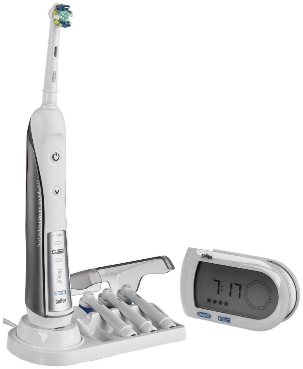 braun oral b triumph 5000 zahnb rste mit gratis smartguide dental care computeruniverse. Black Bedroom Furniture Sets. Home Design Ideas