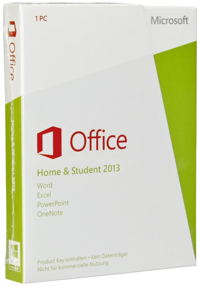 microsoft office 2013 home and student pkc de win office pakete programme computeruniverse. Black Bedroom Furniture Sets. Home Design Ideas