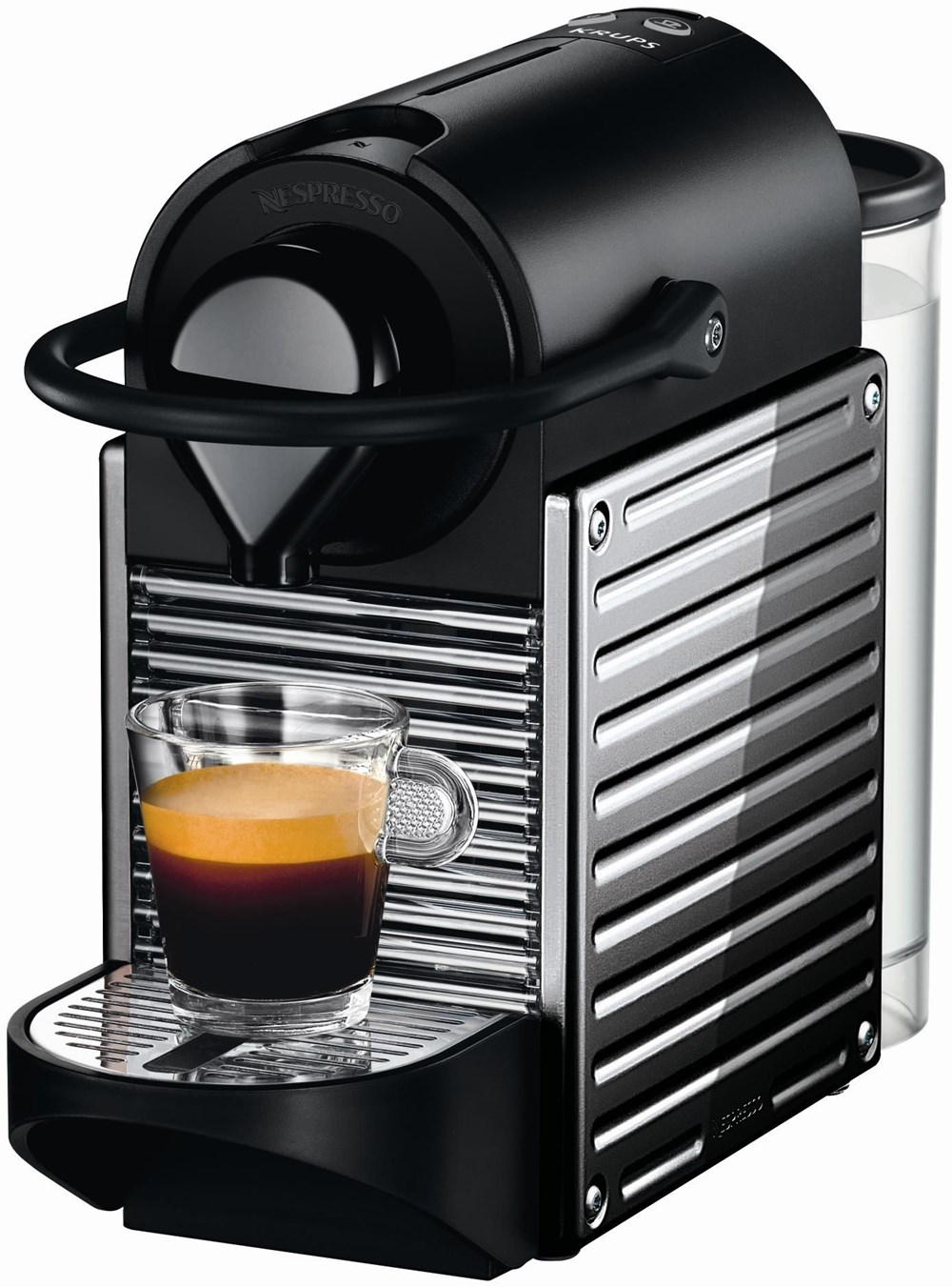 krups pixie xn 300d nespresso stainless steel coffee pod capsule machines computeruniverse. Black Bedroom Furniture Sets. Home Design Ideas