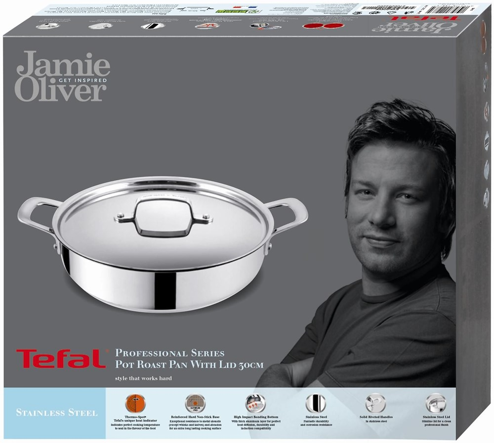 Tefal Jamie Oliver Professional Series Inox Induction ...