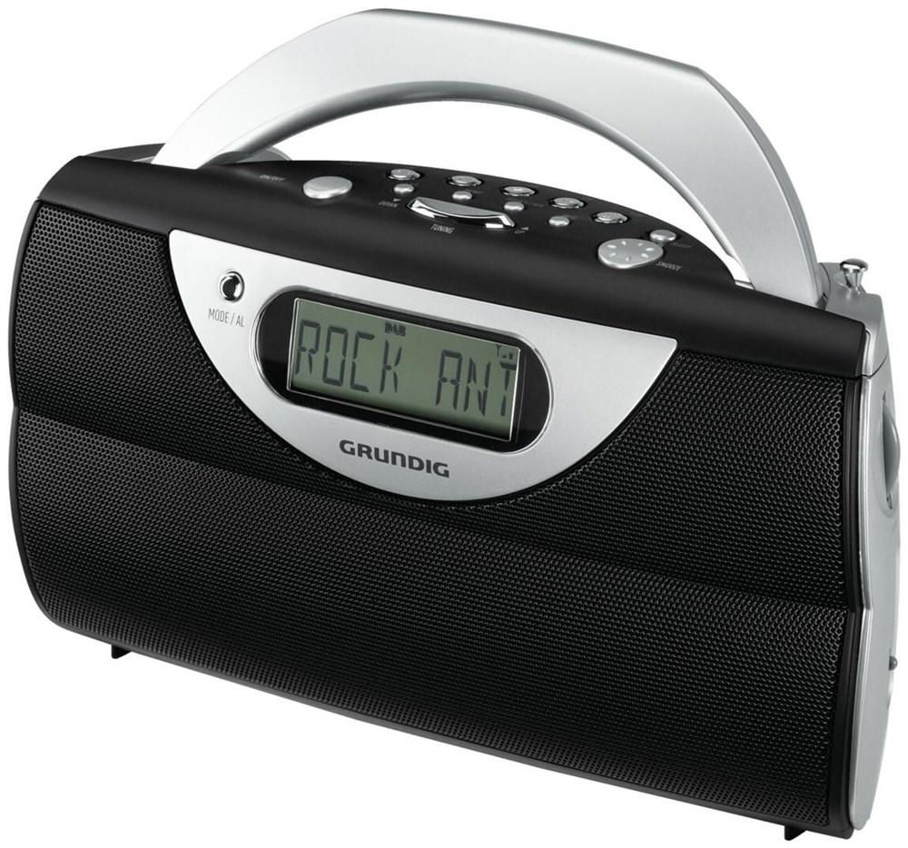 grundig music 71 dab schwarz silber radios und. Black Bedroom Furniture Sets. Home Design Ideas