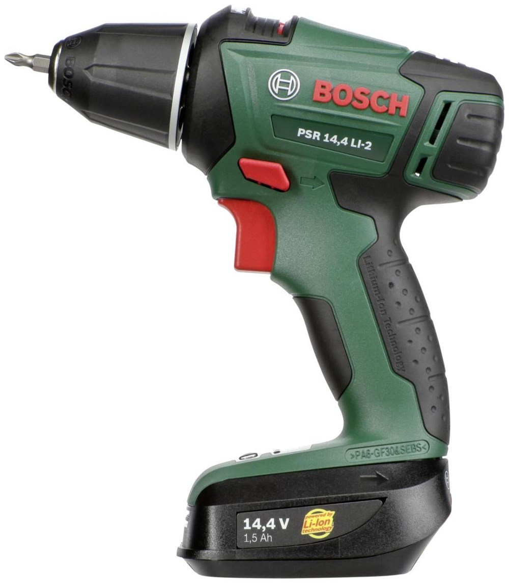 bosch psr 14 4 li 2 cordless drills computeruniverse. Black Bedroom Furniture Sets. Home Design Ideas