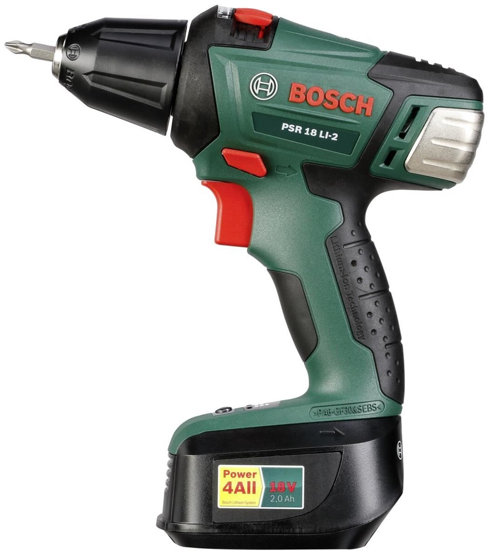 bosch psr 18 li 2 cordless drills computeruniverse. Black Bedroom Furniture Sets. Home Design Ideas