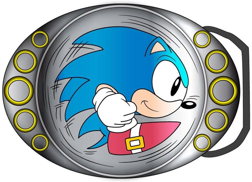 Sonic -S- Buckle Sonic Running With Strap