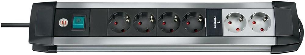 brennenstuhl 1396050072 Premium-Alu-Line Technik Steckdosenleiste 12-fach 3m