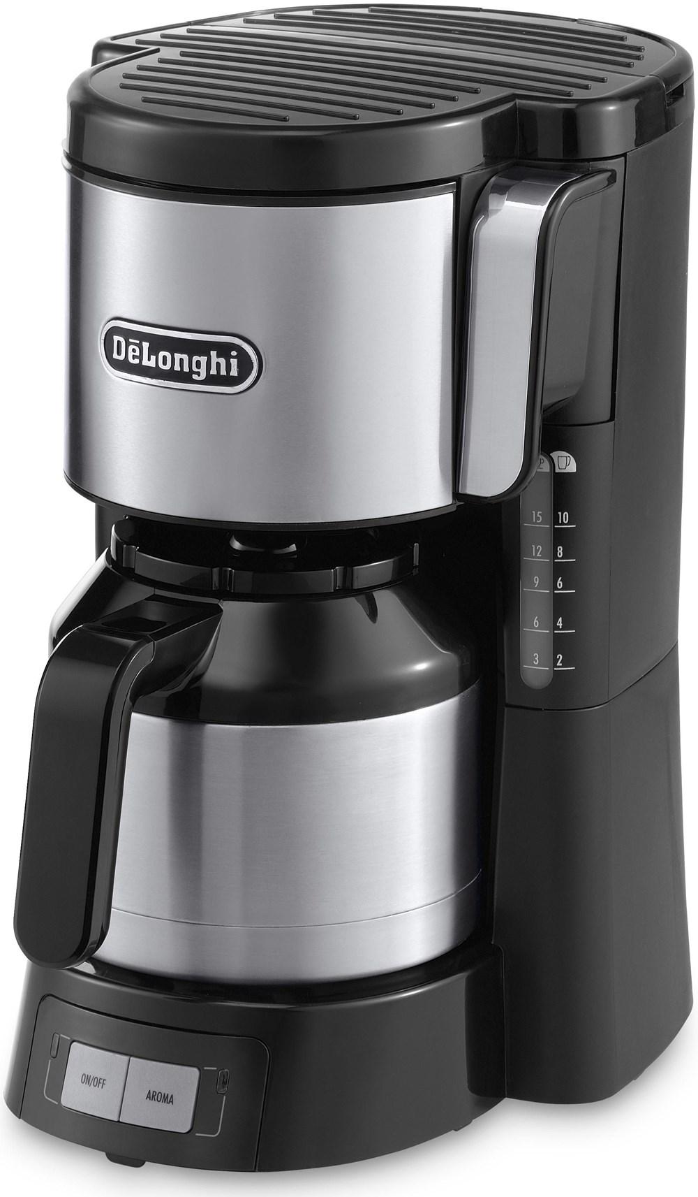 DeLonghi Filterkaffeemaschine ICM 15740 silber/schwarz