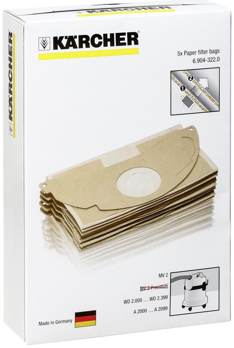 Kärcher Papierfilterbeutel 5 Stück 6.904-322.0
