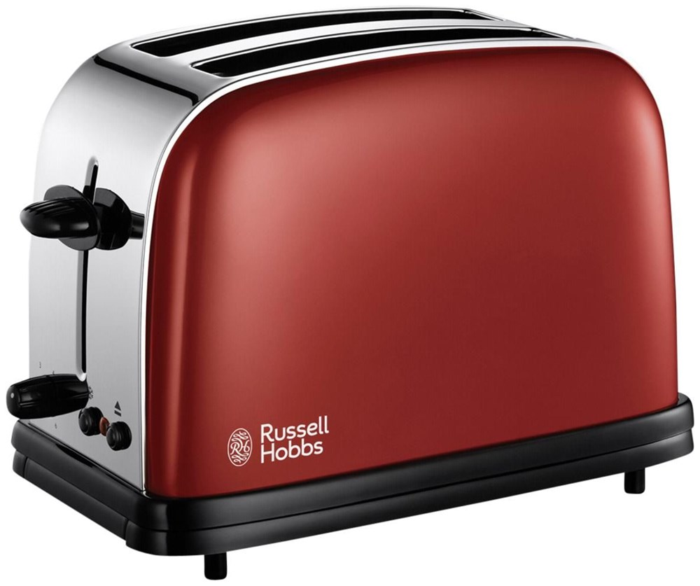 russell hobbs colours red flame toaster rot edelstahl toasters computeruniverse. Black Bedroom Furniture Sets. Home Design Ideas