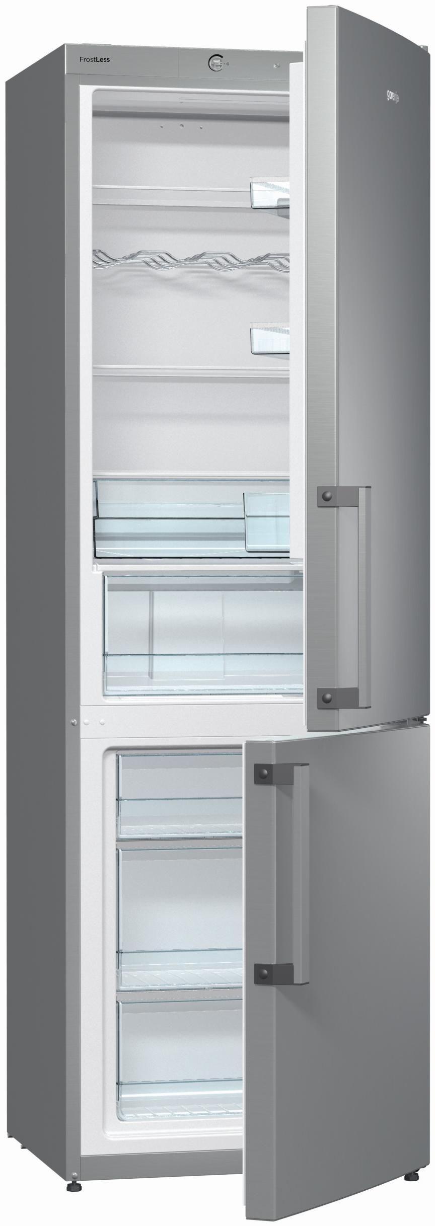 Gorenje RK 6192 EX Kühlgefrierkombinationen, Höhe 185 cm, A++, Inox (EEK: A++) - Preisvergleich