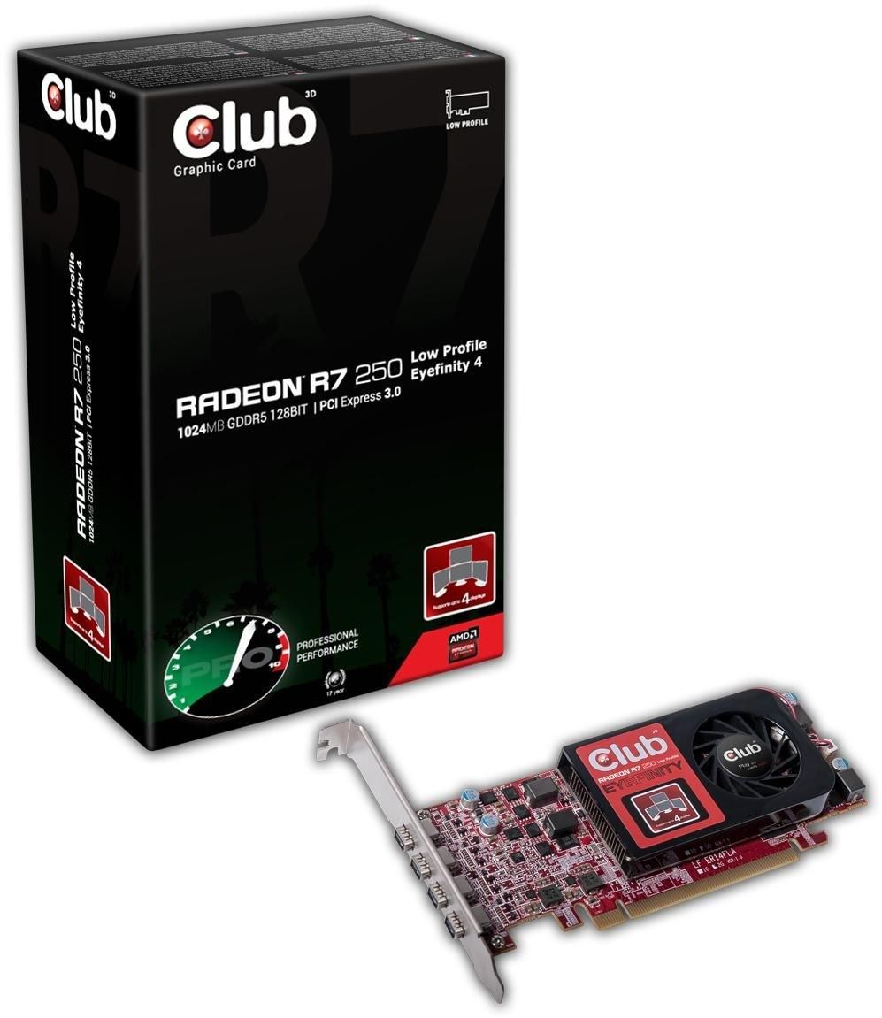 club3d radeon r7 250 lp eyefinity 4 2gb gddr3 pci. Black Bedroom Furniture Sets. Home Design Ideas