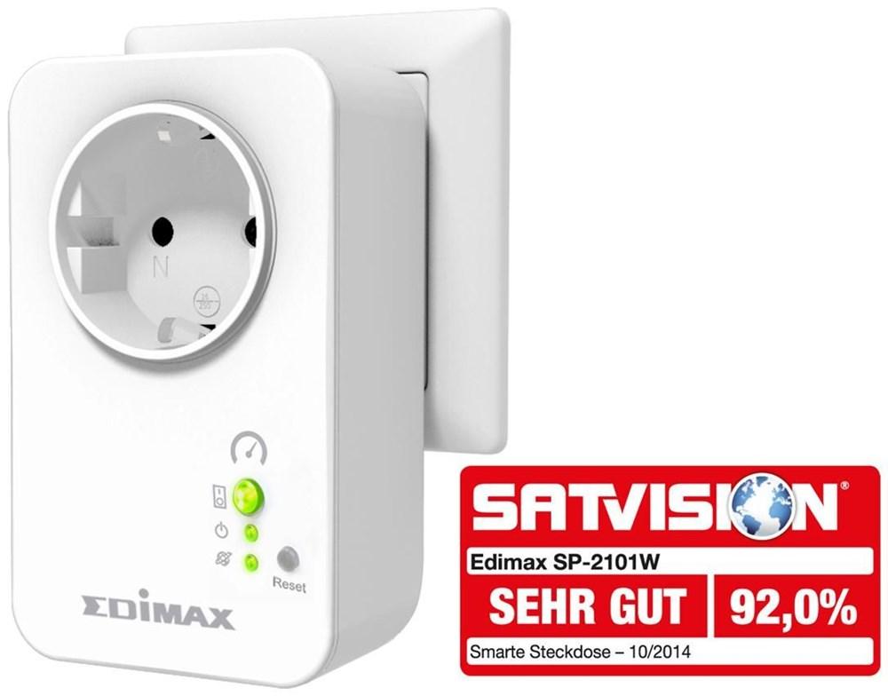 edimax sp 2101w smart plug mit strommesser smart home energiesparen computeruniverse. Black Bedroom Furniture Sets. Home Design Ideas