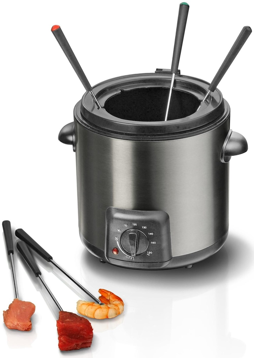 steba df 90 fritteuse fondue set edelstahl schwarz deep fryers computeruniverse. Black Bedroom Furniture Sets. Home Design Ideas