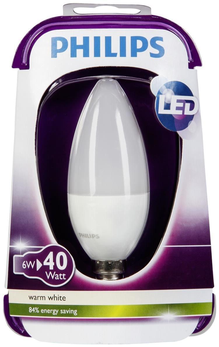 philips led kerze e14 6w warmwei matt leuchtmittel ebay. Black Bedroom Furniture Sets. Home Design Ideas