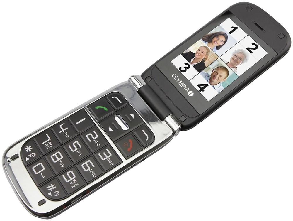 Olympia Becco Plus  32 MB Klapp Handy ohne Vertrag/SIMlock,  schwarz (Handy)