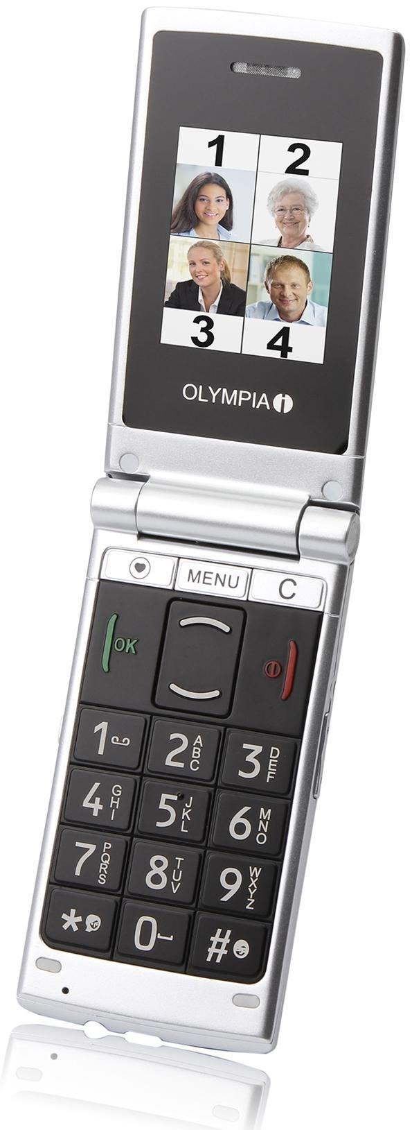Olympia Nova Plus 2149  32 MB Klapp Handy ohne Vertrag/SIMlock,  schwarz (Handy)