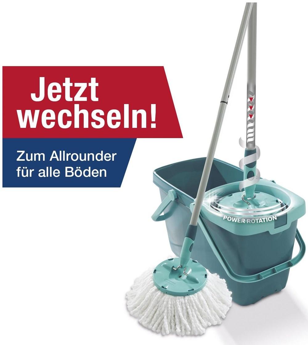 Leifheit 52019 Clean Twist System Mop helltürkis / dunkeltürkis