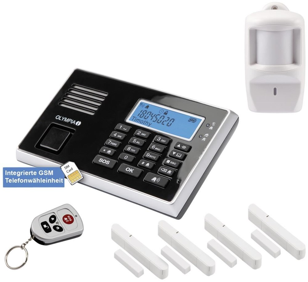 Olympia Protect 9061 GSM Drahtloses GSM-Alarmanlagen-Set