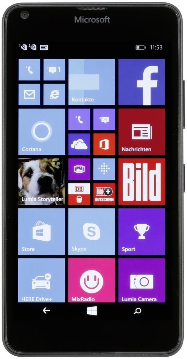 Lumia 640 8 GB Smartphone ohne Vertrag/SIMlock, schwarz (Handy)