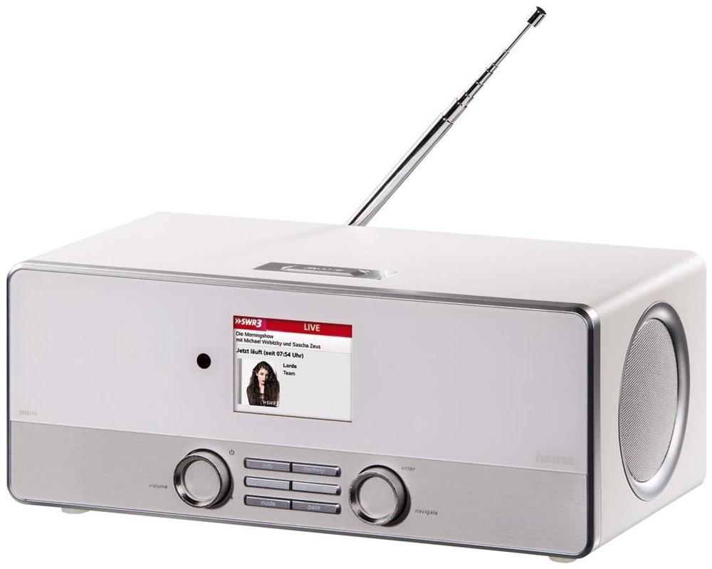 Hama DIR3110 Internetradio/Digitalradio weiss (WLAN/LAN/DAB+/FM) 54824